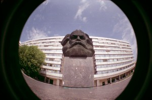 Karl Marx im Fisheye (by Anja Weller, 2011)