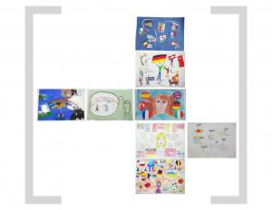 11. Bildtafel: Flaggen und Essen - Version 01