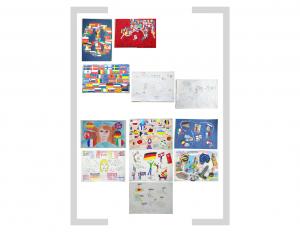 11. Bildtafel: Flaggen und Essen - Version 03