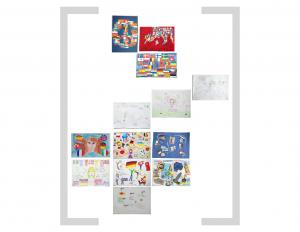 11. Bildtafel - Flaggen und Essen