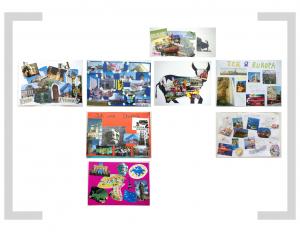 15. Bildtafel - Bildcollage 01 – Postkarte