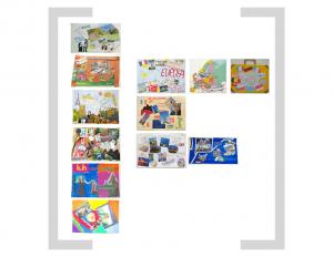 18. Bildtafel: Bildcollage und Zeichnung - Version 01