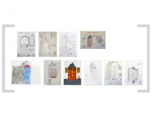 23. Bildtafel: Ich und Roter Turm - 1. Version