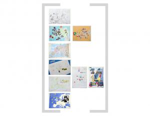 19. Bildtafel: Europakarte - 1. Version